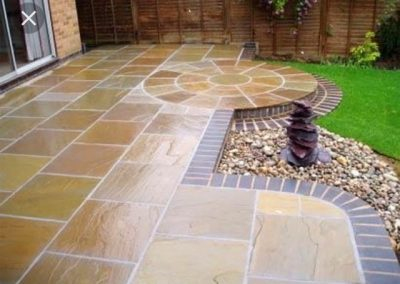 Huyton fencing decorative patio laying